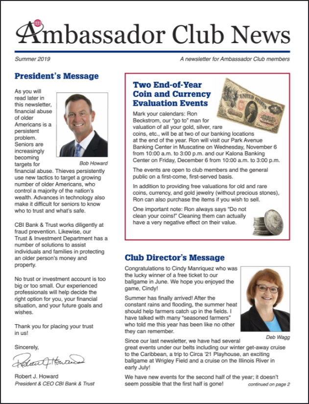 club newsletter image
